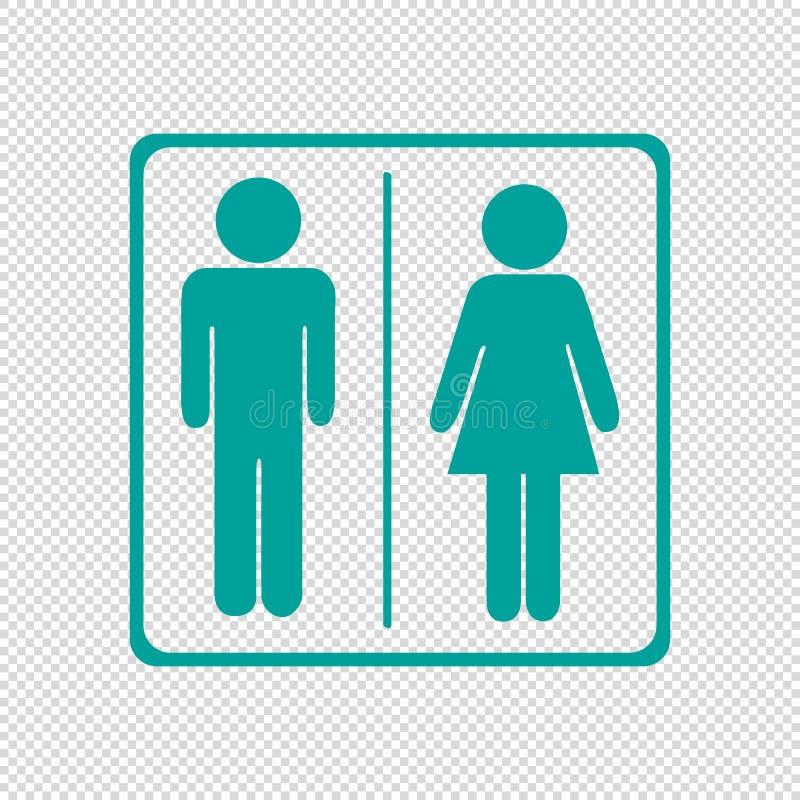 Toalety ikony Unisex Odizolowywający Na Przejrzystym tle - Wektorowa ilustracja - ilustracji