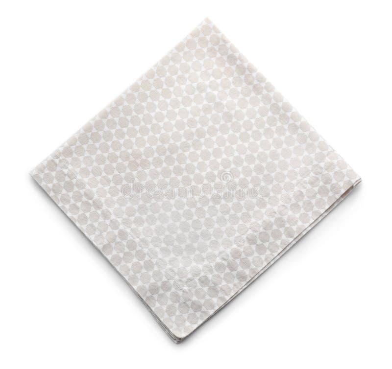 Toalha de cozinha limpa no fundo branco fotos de stock royalty free