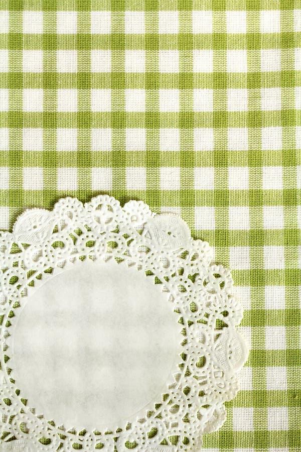 Toalha de cozinha verde Checkered imagens de stock