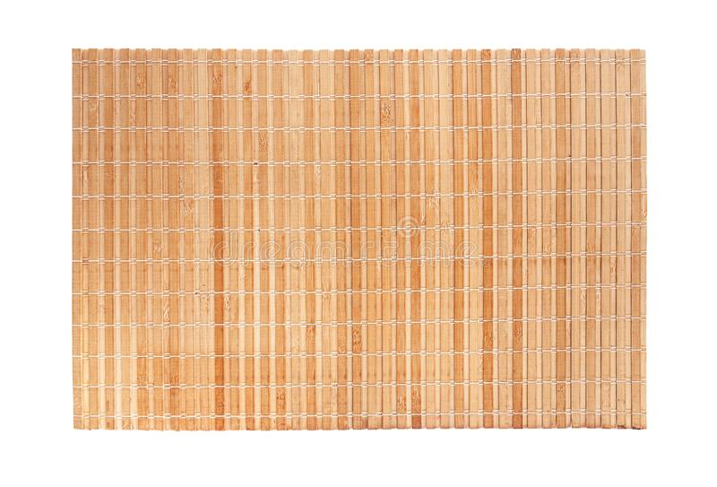 Toalha de mesa de bambu na tabela foto de stock royalty free