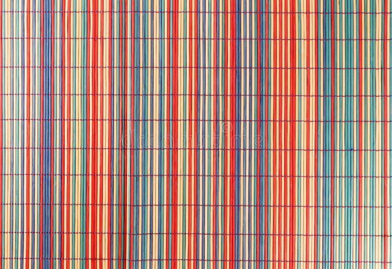 Toalha de mesa de bambu do placemat colorido imagem de stock royalty free