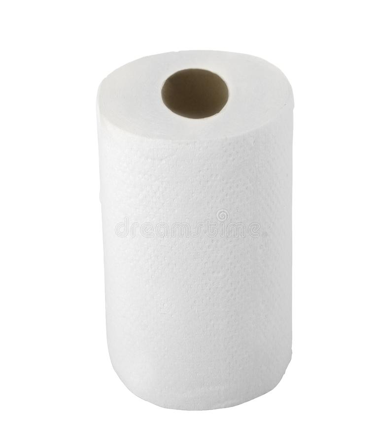 Toalha de papel isolada no branco imagens de stock