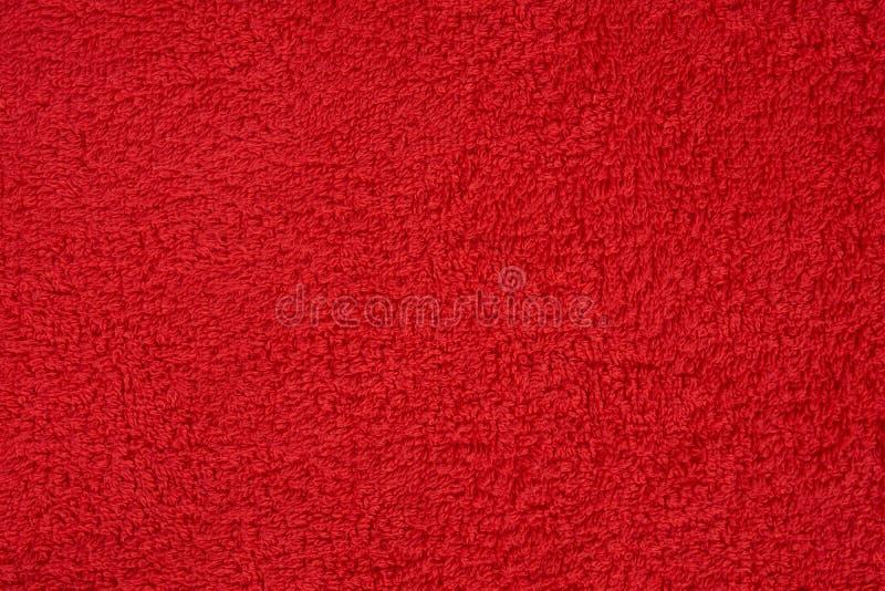 Toalha de terry vermelha fotografia de stock
