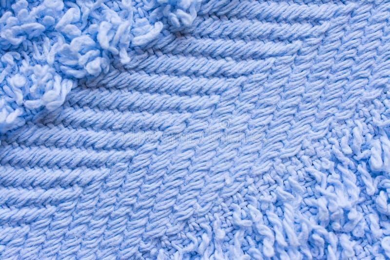 Toalhas azuis do algod?o, fundo da textura da tela fotografia de stock royalty free