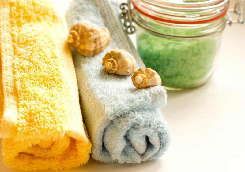 Toalhas de banho fotos de stock