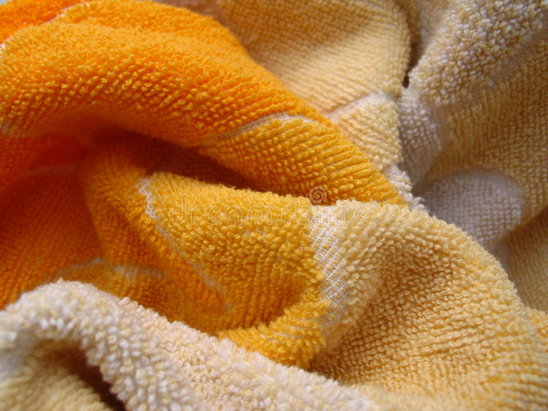 Toalla amarilla fotografía de archivo