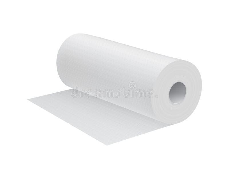 Toalla de cocina realista del Libro Blanco ilustración del vector