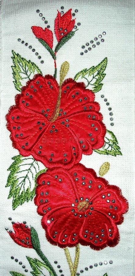 Toalla de la rosa del rojo imagen de archivo