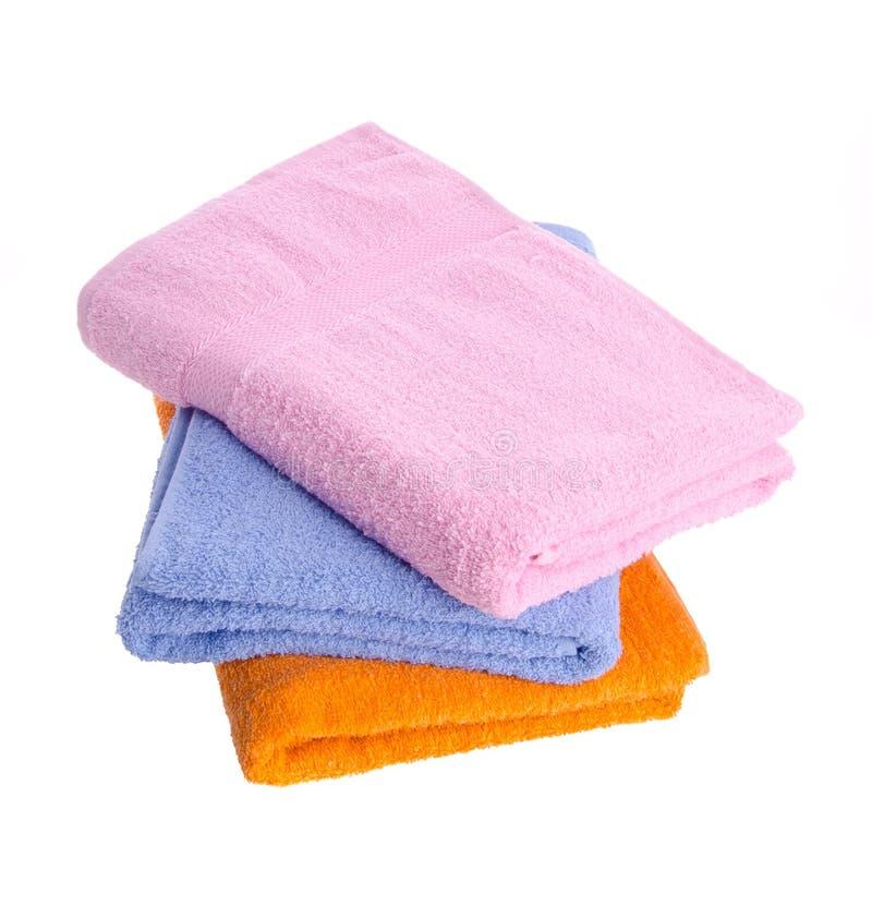 Toalla, toalla en fondo. fotografía de archivo