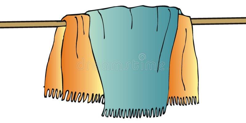Toallas stock de ilustración