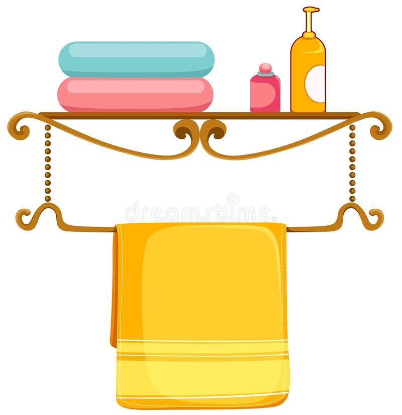 Toallas de baño ilustración del vector