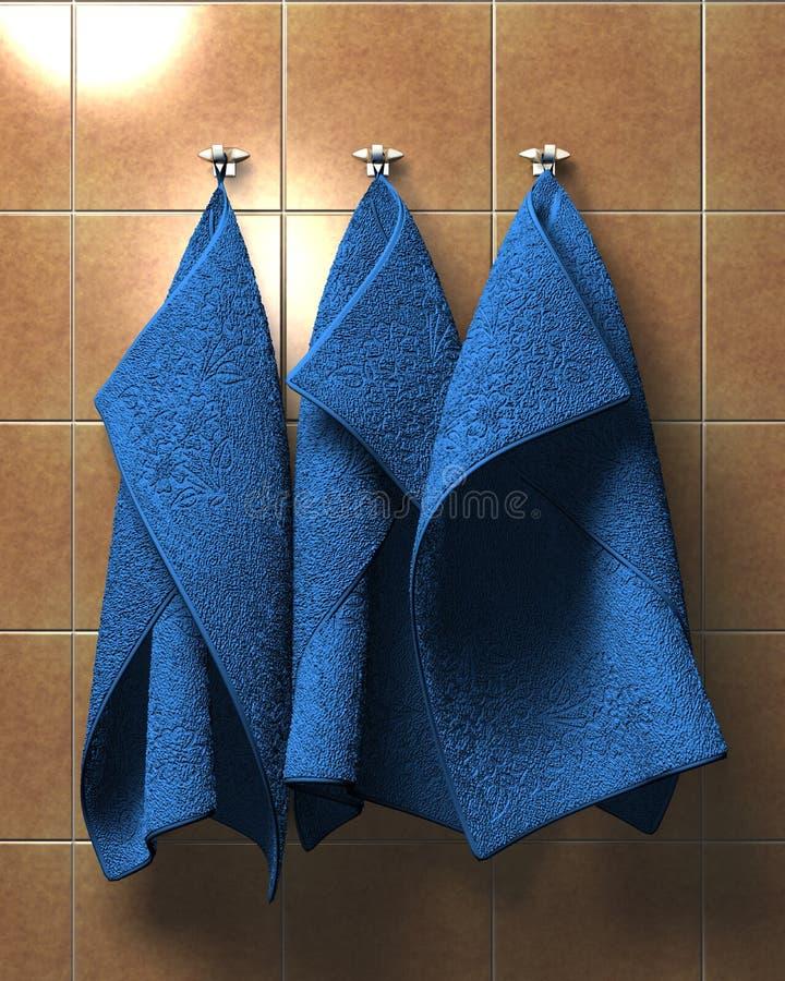 Toallas del azul del árbol libre illustration
