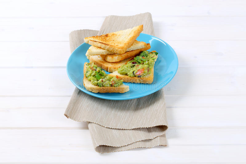 Download Toast Bread With Guacamole Stock Photo - Image: 83709706