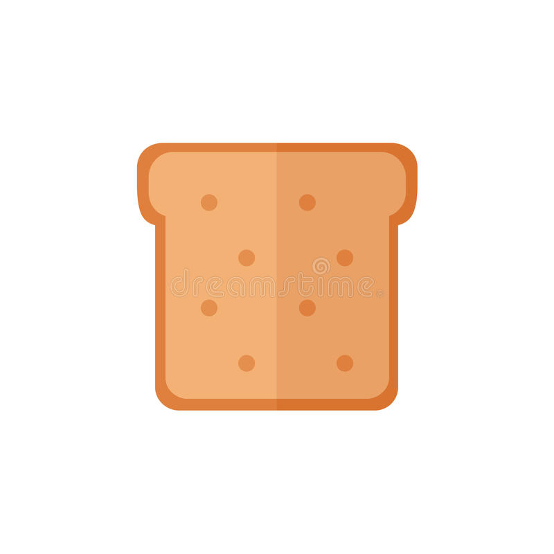 Toast bread isolated icons on white background. royalty free stock photo