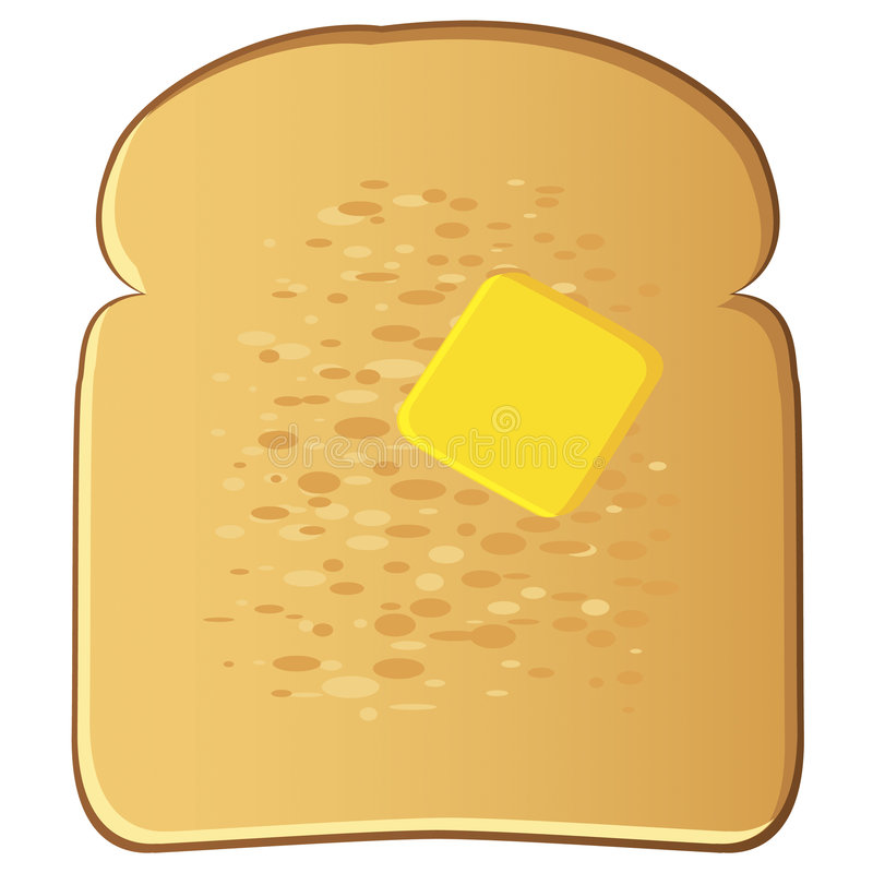 Toast with Butter. Illustration of toast with butter vector illustration