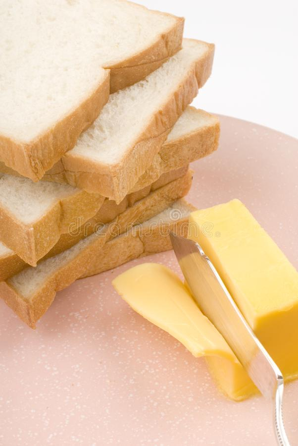 Toast and butter stock photos
