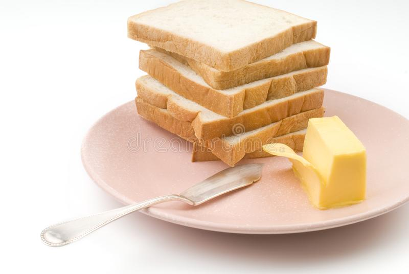 Toast and butter royalty free stock images