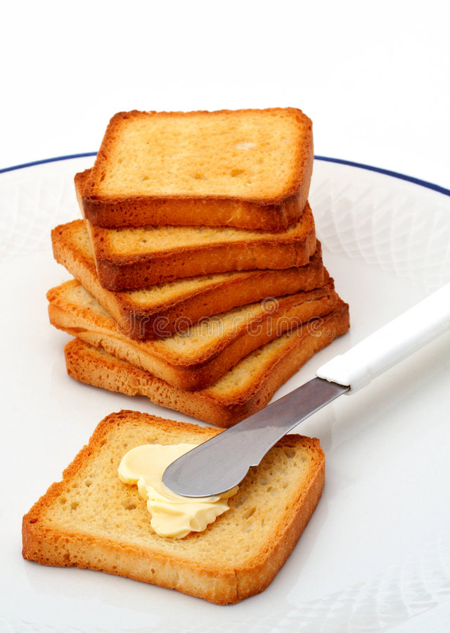 Download Toast with butter stock image. Image of sandwich, kitchen - 773021
