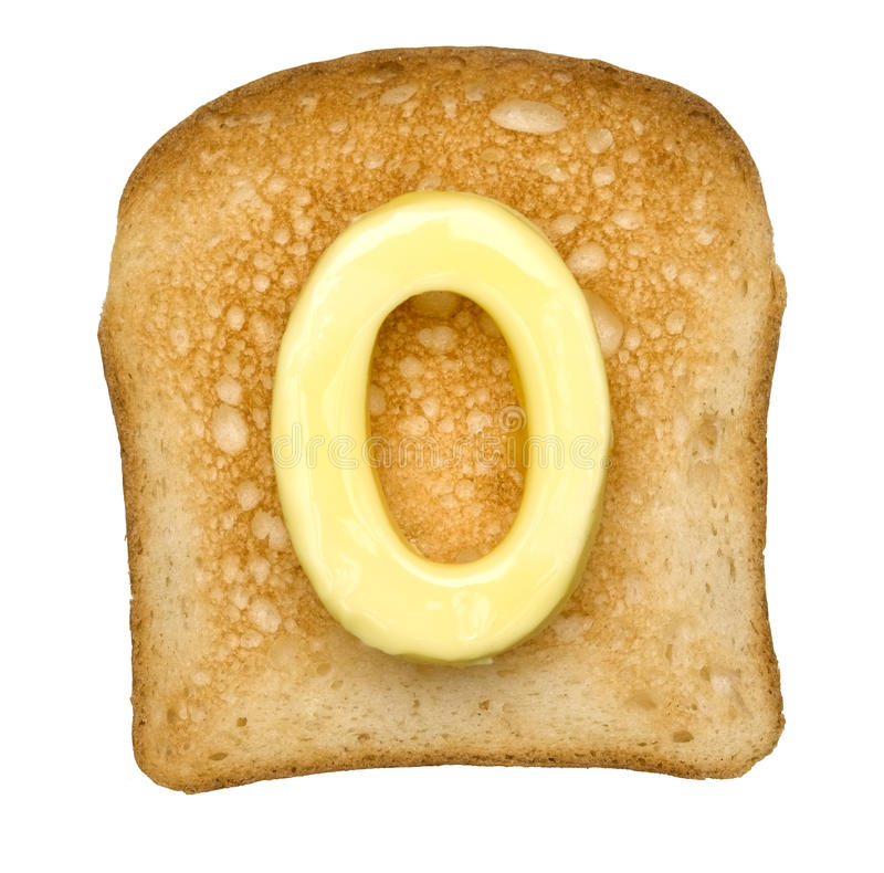 Toast with Butter Number stock images