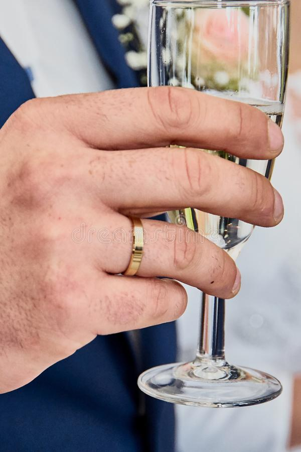 Toast with champagne royalty free stock photo