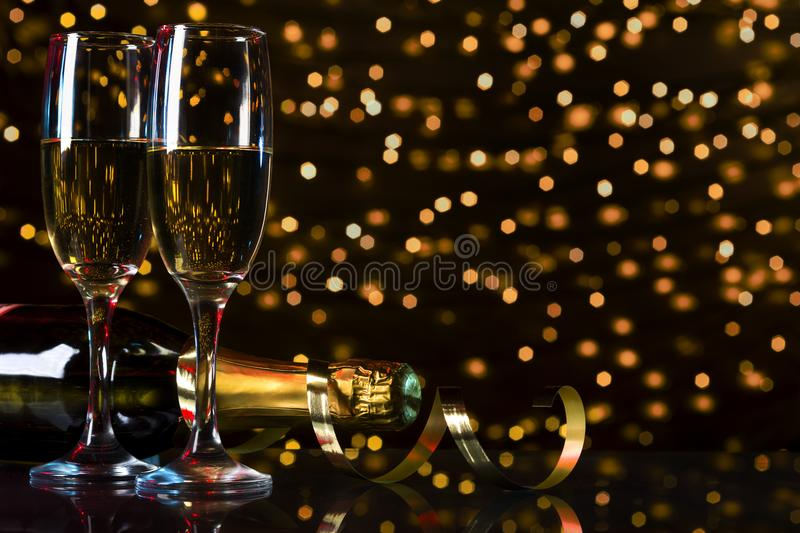 Toast champagne, new year stock images