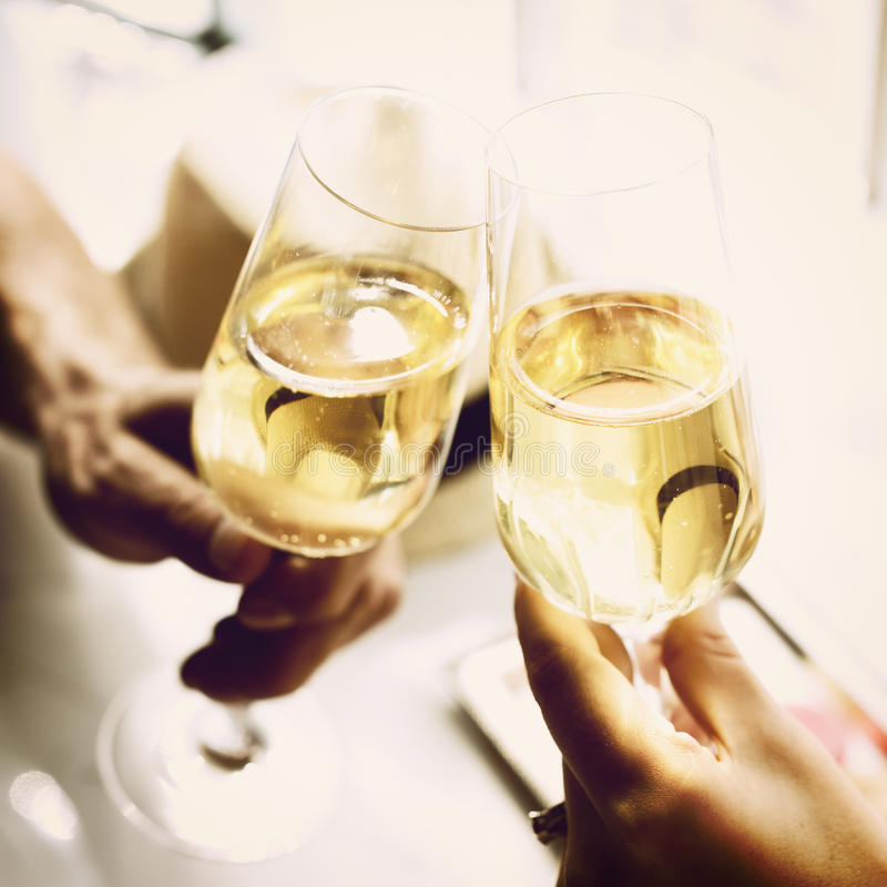 Toast Cheers Alcohol Beverage Celebration Party Concept stock images