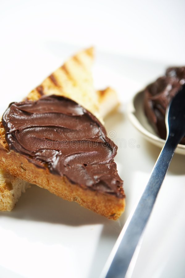 Toast chocolate stock images