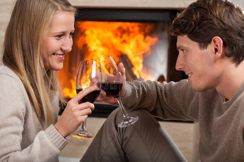 Download Toast by fireplace stock image. Image of connection, hands - 36080451