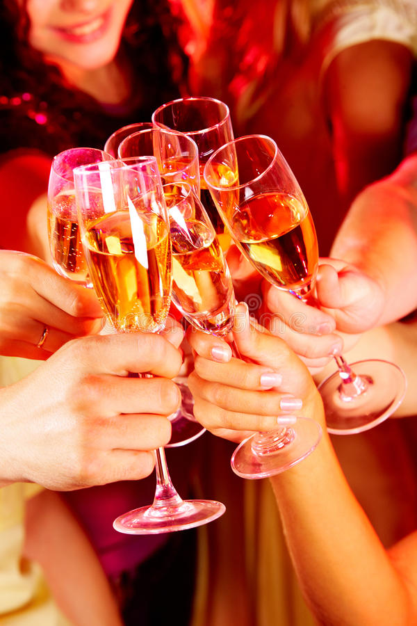 Toast for friendship stock image