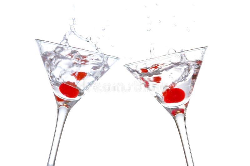 toast glasse koktajle dwóch zdjęcia stock