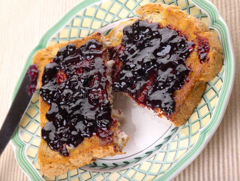Toast and Jam royalty free stock image