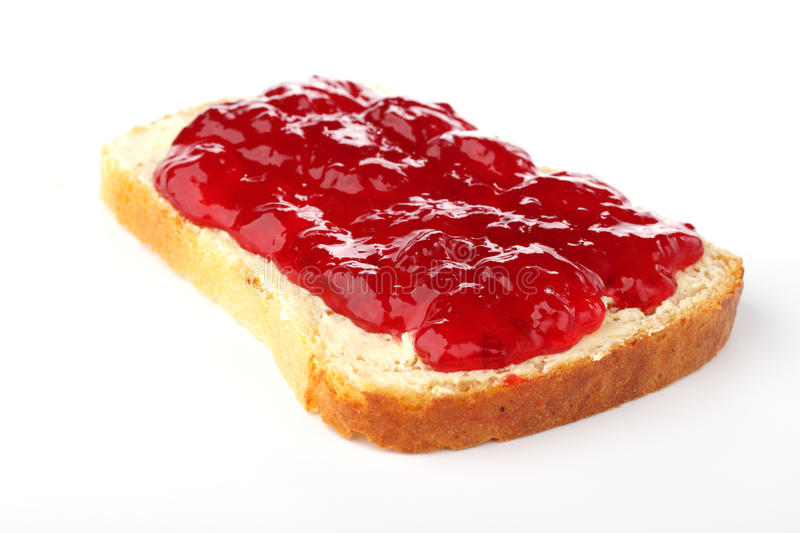 Toast with jam royalty free stock photos