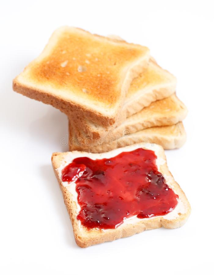 Toast and jam royalty free stock photo