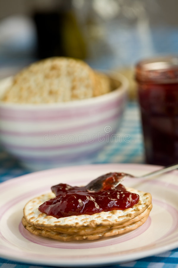 Toast With Jelly Stock Images