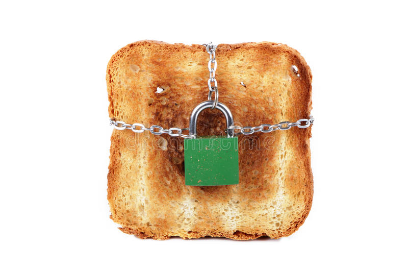 Download Toast and lock stock image. Image of yellow, burnt, piece - 26477481