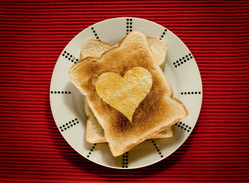 Toast With Love Stock Image