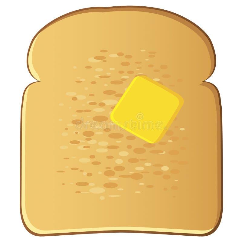 Toast mit Butter vektor abbildung