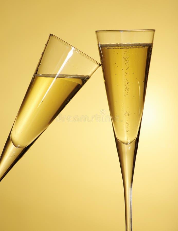 Toast mit Champagner lizenzfreie stockbilder