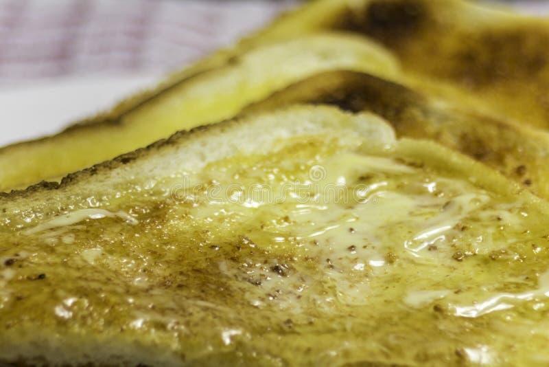Toast mit Honig stockfotos