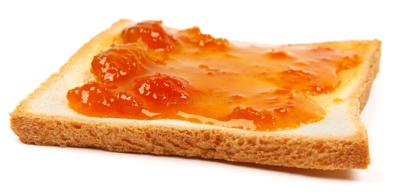 Toast mit Störung stockfotos