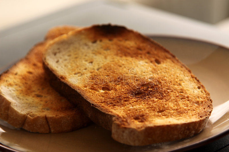 Download Toast on a Plate stock photo. Image of field, burnt, grain - 8356552