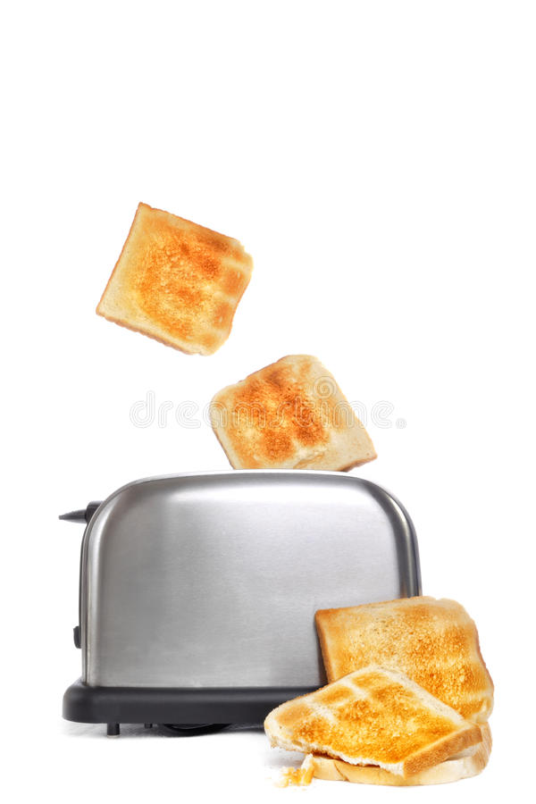 Toast Popping Out Of Toaster Stock Image