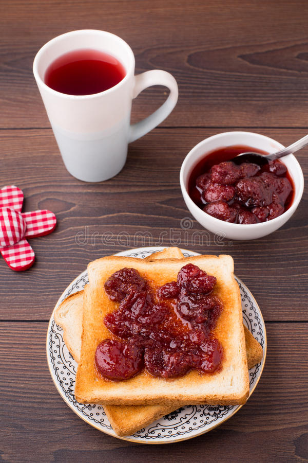 Download Toast with strawberry jam stock image. Image of snack - 33574855