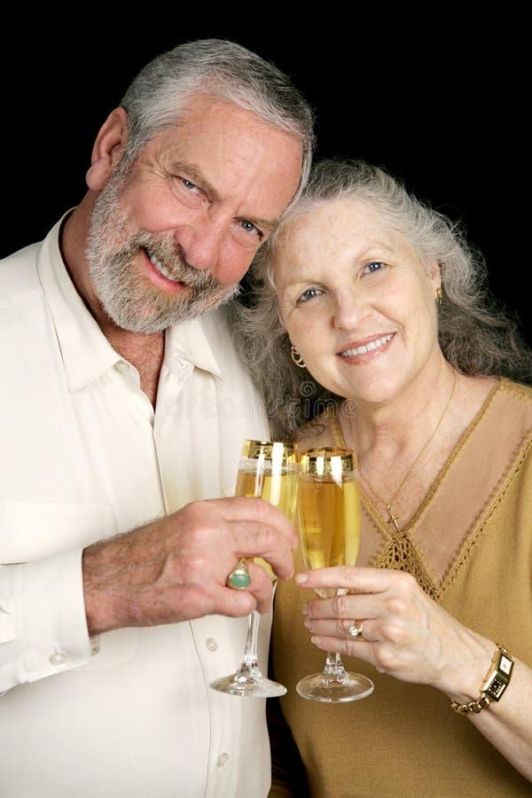 toast szampanem pionowe zdjęcia stock
