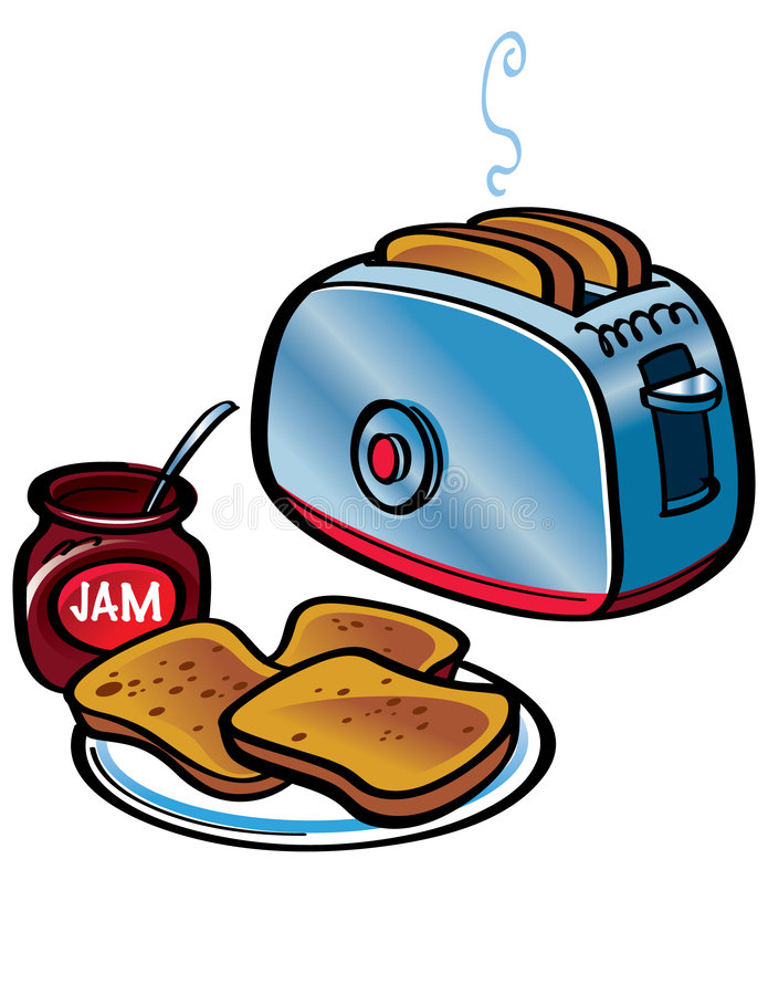 Toast und Störung lizenzfreie abbildung