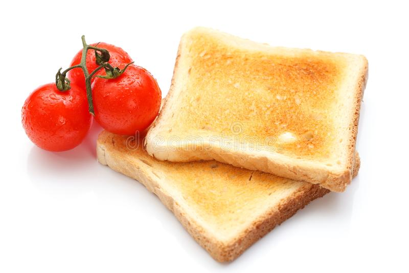 Toast und Tomate lizenzfreies stockbild