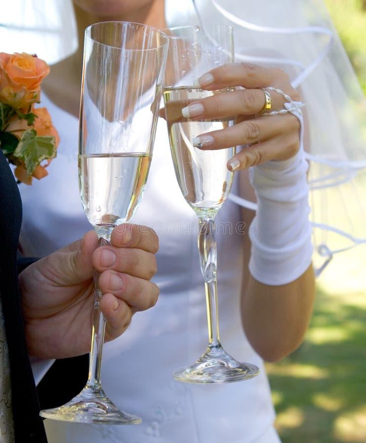 toast za ślub zdjęcie stock
