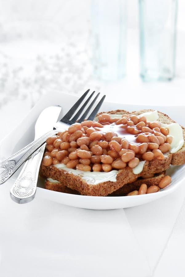 toast za fasoli zdjęcia stock