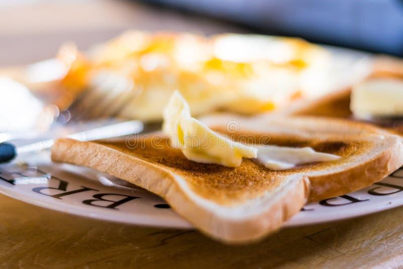 toast za maślana fotografia stock