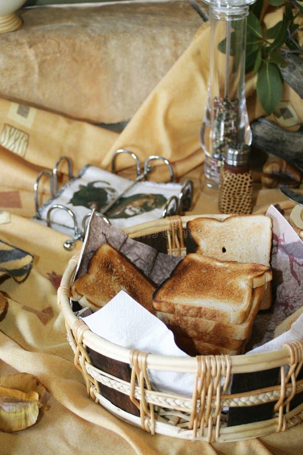 toast za stołowa zdjęcie stock